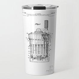Curta Mechanical Calculator Patent Drawing Travel Mug