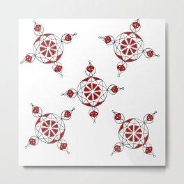 Ornamental Dotted Multi Metal Print