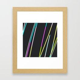 thin strips on black Framed Art Print