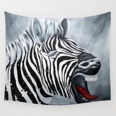 Cheeky Zebra Wall Tapestry