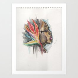 woman of paradise Art Print