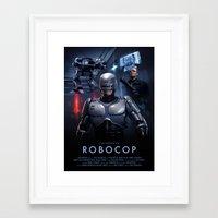 robocop Framed Art Prints featuring RoboCop by Brian Taylor
