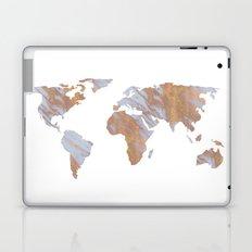Rose Gold Marble Map - RoseGold World Laptop & iPad Skin