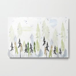 Into the woods woodland scene Metal Print