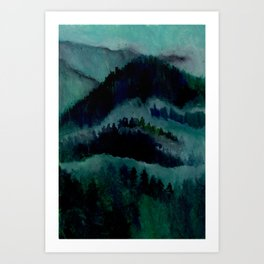 Mountain Scene Art Print