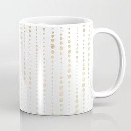 NYC Nights Gold Polka Dot Stripes Coffee Mug