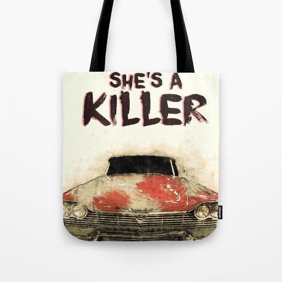 She's a Killer - 1957 Plymouth Fury Tote Bag