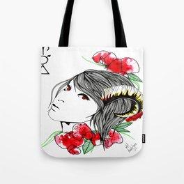 Zodiac/ Aries woman Tote Bag