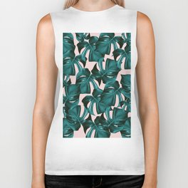 Tropical Monstera Leaves Pattern #1 #foliage #decor #art #society6 Biker Tank