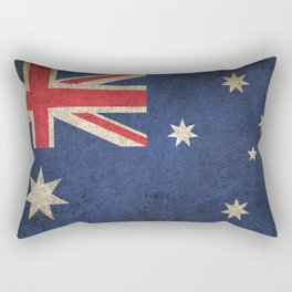 Old and Worn Distressed Vintage Flag of Australia Rectangular Pillow