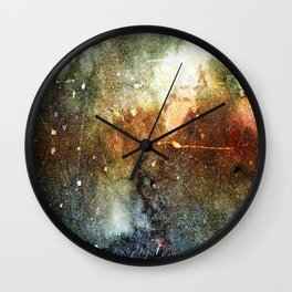 Rust Stained Best Cement Abstract Wall Clock