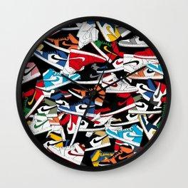 Jordan 1 Pattern Wall Clock