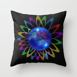 Abstract in Perfection - Rose 3 Throw Pillow
