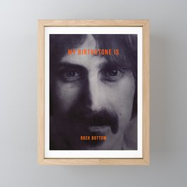 Frank Zappa Framed Mini Art Print