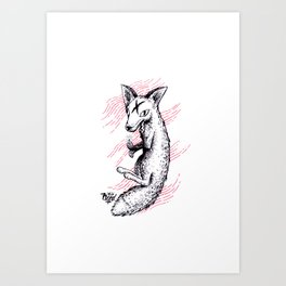 Graphic Fox Art Print