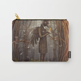 Raven in forest Carry-All Pouch