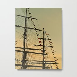 Ship flags at the Tall Ships Race Waterford 2011 Metal Print