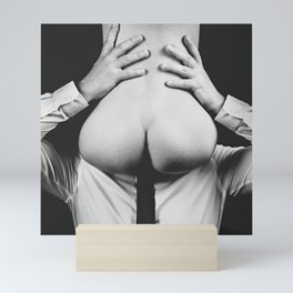 Photograph Erotic Art  - Nude woman sitting on a man Mini Art Print
