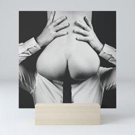 Photograph Erotic Art  - Nude woman sitting on a man Mini Art Print