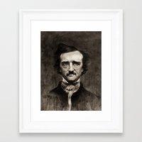 edgar allan poe Framed Art Prints featuring EDGAR ALLAN POE by Jason Seiler