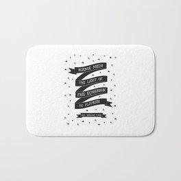 Light [Black] Bath Mat