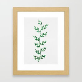 Lace Leaves (Dark Green) Framed Art Print