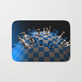 chess fantasy blue Bath Mat