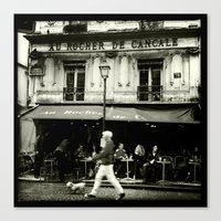tintin Canvas Prints featuring streetphotography paris by Carthagena