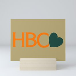 HBCU Love Typography Art No 03 Mini Art Print