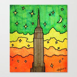 Empire State Building in NYC Canvas Print