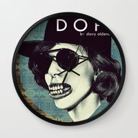 dope Wall Clocks featuring DOPE by Davy Oldenburg