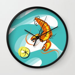 Rock Lobster Wall Clock