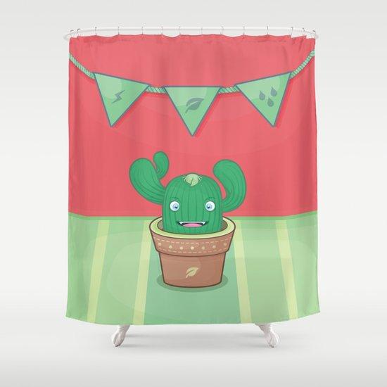 Un pequeño cactus Shower Curtain