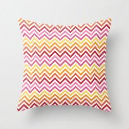 Rainbow Chevron #1 Throw Pillow