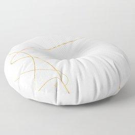 Kintsugi 2 #art #decor #buyart #japanese #gold #white #kirovair #design Floor Pillow