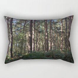 Trees Over Ferns. Rushmere Country Park, Bedfordshire UK Rectangular Pillow