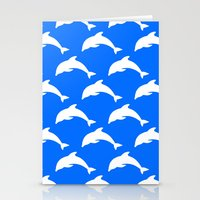 dolphins Stationery Cards featuring Dolphins by The Wellington Boot
