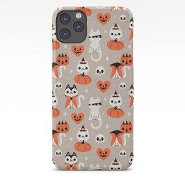 Halloween Kitties (Gray) iPhone Case