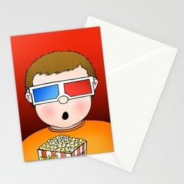 3D Popcorn Kid Stationery Cards