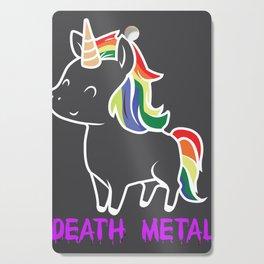 Death Metal Unicorn Rainbow Mane Gift Cutting Board