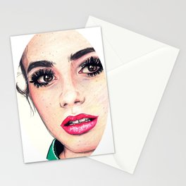 Lily Collins Stationery Cards