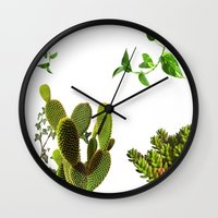 plants Wall Clocks featuring Plants by jajoão