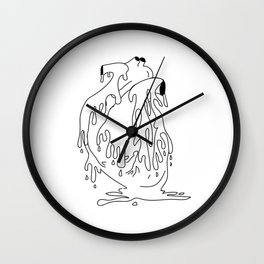 Melted Heart Wall Clock