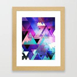 ONE THING Framed Art Print