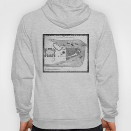Historical Map of New York City (1664) BW Hoody