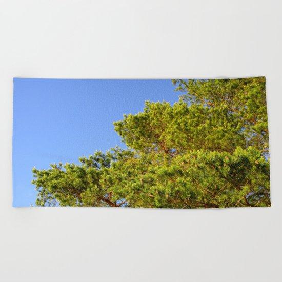 Treetop Beach Towel