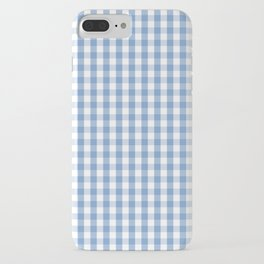 Classic Pale Blue Pastel Gingham Check iPhone Case
