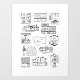 Casse-croûtes légendaires montréalais / Montreal Delis + Art Print