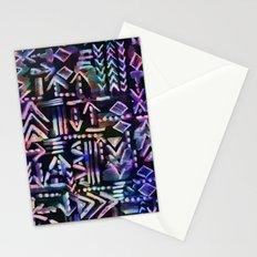 Tapa Tribal Black Stationery Cards