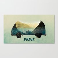 drive Canvas Prints featuring drive by yuvalaltman